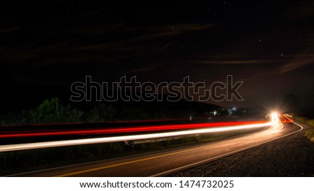long exposure of a road