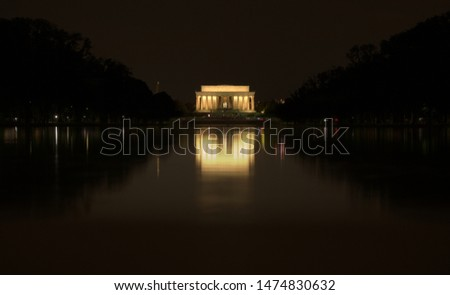 The Lincoln Memorial reflected in the Reflecting Pool #1474830632
