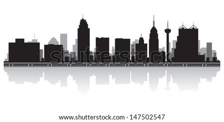 San Antonio USA city skyline silhouette vector illustration