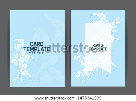 Greeting Card Template with flower background, Vector EPS. #1475341595