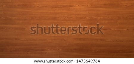 Wooden panel background texture with a decorative red woodgrain pattern for use in carpentry, interior decor and building #1475649764