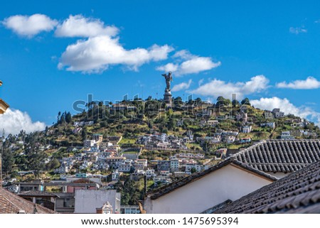 Panecillo de Quito in the Independence Place monument #1475695394