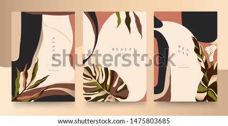 Abstract trendy luxury floral universal artistic templates. Good for cover, invitation, banner, placard, brochure, poster, card, flyer and other. #1475803685