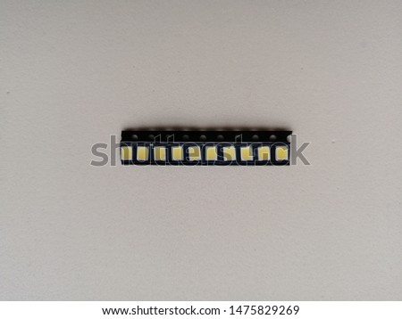 a new set of small radio components for electrical equipment on a white background shot in real close-up #1475829269