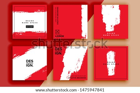 Set of sale banner template design. Vector illustration. Royalty-Free Stock Photo #1475947841