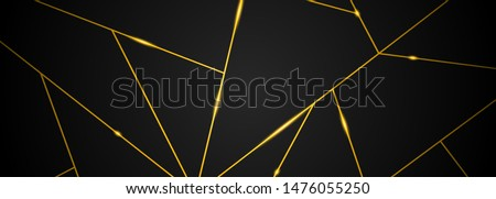 Dark black and Gold mosaic background. Modern dark abstract vector texture Royalty-Free Stock Photo #1476055250