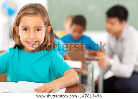 pretty elementary school student in classroom #147613496