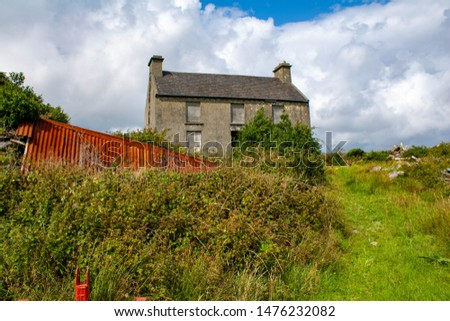 Old abandoned house on the hill West Coast of Ireland  #1476232082