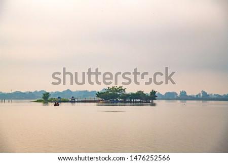 Tilok Aram temple in Kwan Phayao lake, Thailand. #1476252566