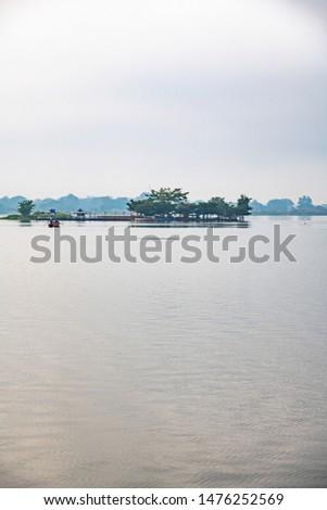 Tilok Aram temple in Kwan Phayao lake, Thailand. #1476252569