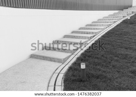 Modern stairway. Building abstract background #1476382037