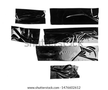 Set of black tapes on white background #1476602612