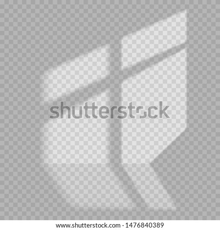 Window light and shadow realistic grey decorative background. Transparent shadow overlay effects for branding. Window frame shadows for natural light effects. Shadow and light from the window. #1476840389