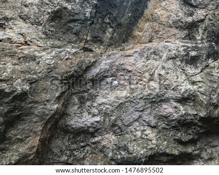 background texture of cliff in the mountain valley at Phatthalung, Thailand #1476895502