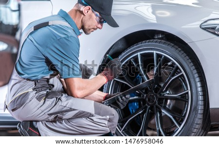 Automotive Industry. Modern Car Servicing in Authorized Dealership Repair Center.  #1476958046
