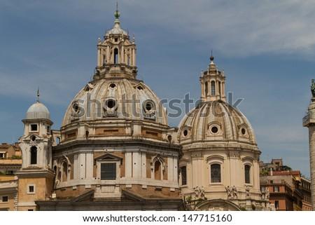 Chiesa del Santissimo Nome di Maria al Foro Traiano and Santa Maria di Loreto in Rome, Italy #147715160