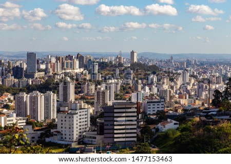 View of Belo Horizonte City Belo Horizonte at morning. Minas Gerais/Brazil. #1477153463