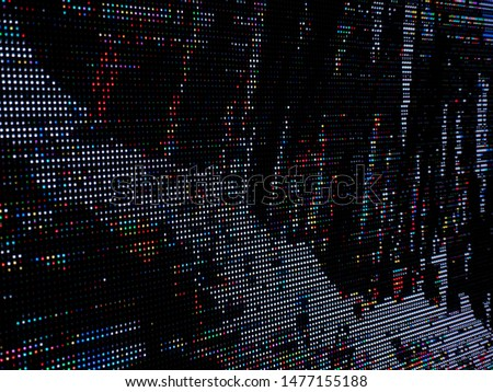 Colored LED Smd Pixel Pitch. LEDs light modules. RGB Lights with animation video background. #1477155188