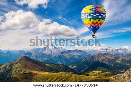 Travel concept. Amazing view of  the Dolomites Alps. Location: South Tyrol, Dolomites, Italy. Travel in nature. Artistic picture. Beauty world.