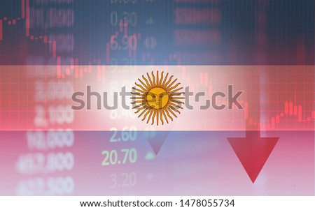 Argentina crisis economy stock exchange market down chart fall trading graph finance Fiscal deficit High inflation loan Argentina interest rate is high and  effects of trade wars export import #1478055734
