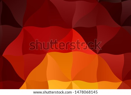 Dark Red, Yellow vector abstract polygonal background. Colorful illustration in polygonal style with gradient. Completely new template for your banner. #1478068145