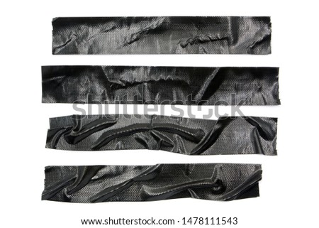 black tapes collection isolated on white background. #1478111543