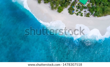 The most amazing and beautiful maldives beach aireal view #1478307518