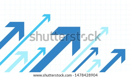 Arrows going up. Growth success. White background Royalty-Free Stock Photo #1478428904