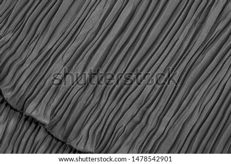 Texture, background, pattern, Cloth Pleated Gray Black. You may want to align this fabric, although it is not too clean. Ideal solution for your design, and other creative projects #1478542901