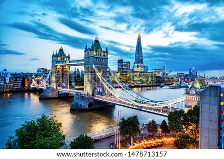 View of the Tower Bridge in London England #1478713157