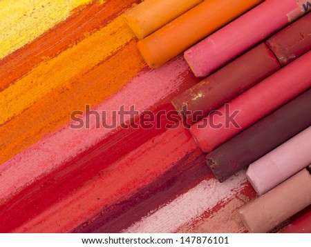 colorful crayons background