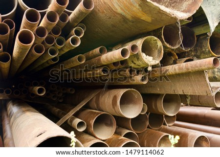 Storage warehouse for rolled steel, steel pipes and steel angle #1479114062