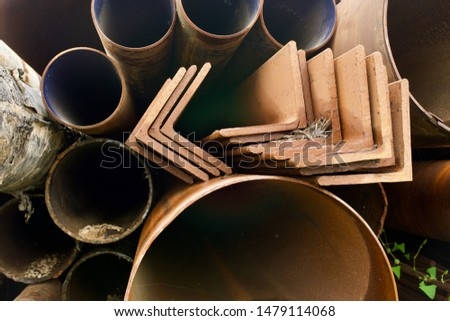 Storage warehouse for rolled steel, steel pipes and steel angle #1479114068