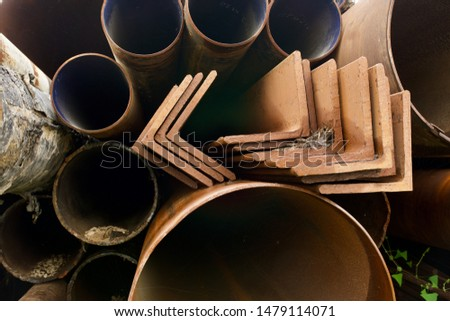 Storage warehouse for rolled steel, steel pipes and steel angle #1479114071