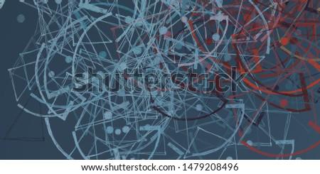 Brush painting. Artistic canvas mix form. Oil art matrix. 2d illustration. Texture backdrop. Creative chaos structure element material creation bitmap figures. #1479208496