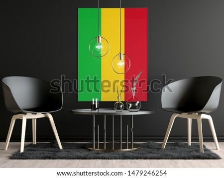 Mali Flag in Room, Mali Flag in Photo Frame #1479246254