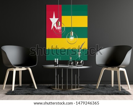 Togo Flag in Room, Togo Flag in Photo Frame #1479246365