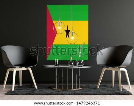 Sao Tome and Principe Flag in Room, Sao Tome and Principe Flag in Photo Frame #1479246371