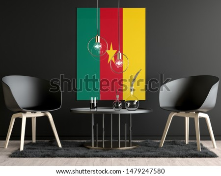 Cameroon Flag in Room, Cameroon Flag in Photo Frame #1479247580