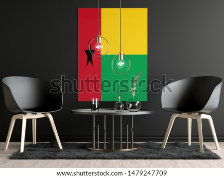 Guinea Bissau Flag in Room, Guinea Bissau Flag in Photo Frame #1479247709