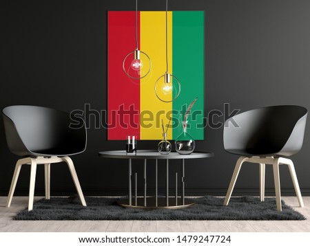 Guinea Flag in Room, Guinea Flag in Photo Frame #1479247724