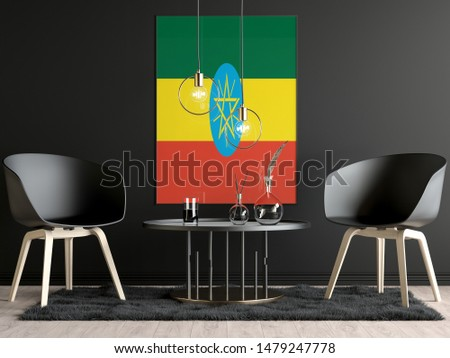 Ethiopia Flag in Room, Ethiopia Flag in Photo Frame #1479247778