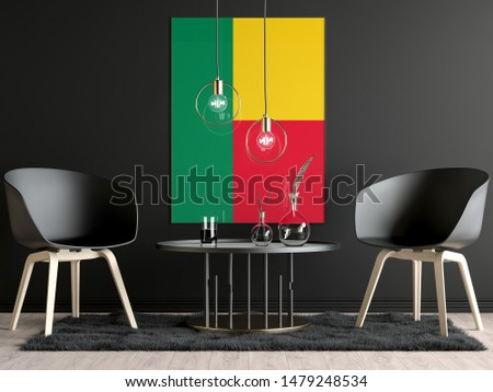 Benin Flag in Room, Benin Flag in Photo Frame #1479248534