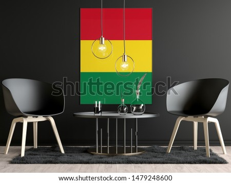 Bolivia Flag in Room, Bolivia Flag in Photo Frame #1479248600