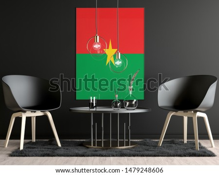 Burkina Faso Flag in Room, Burkina Faso Flag in Photo Frame #1479248606