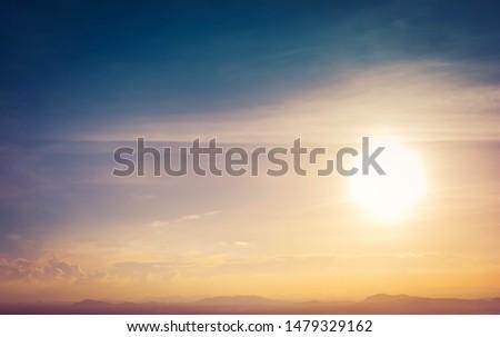 Beautiful Sunset In The Horizon #1479329162