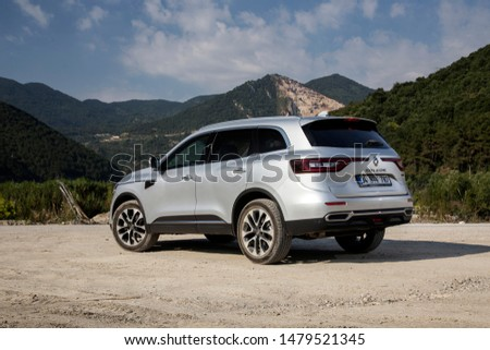 Istanbul/Turkey - August 1 2019 : Renault Koleos is a compact crossover SUV, uses the Renault-Nissan Common Module Family (CMF-CD) modular platform. #1479521345