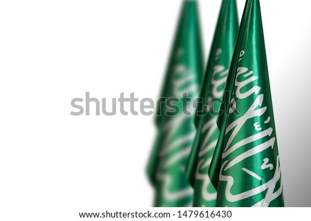 Saudi Arabia flags, use it for national day and country national occasions #1479616430