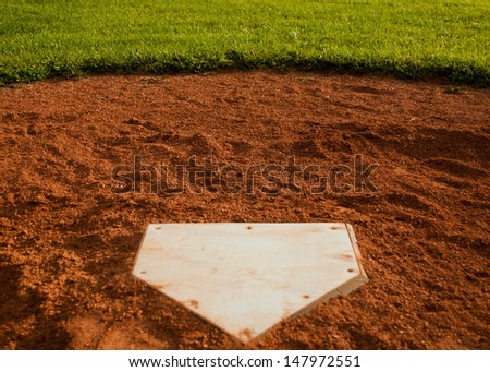 Home Plate Royalty-Free Stock Photo #147972551
