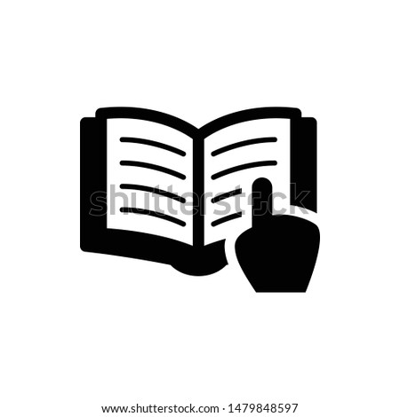 Reading vector graphics solid icon
